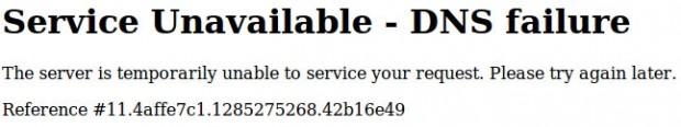 Facebook - Eroare DNS