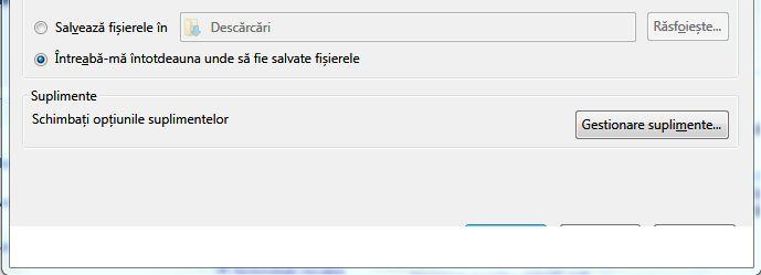 Firefox 4 beta - Optiuni