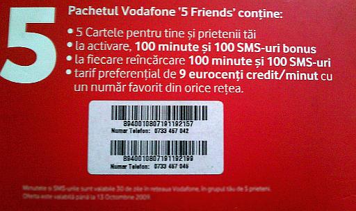 Vodafone 5 Friends