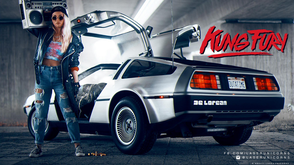 kungfury-delorean-dmc12